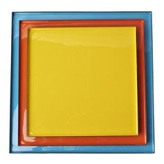 Square Enamel Tray Set Of 3, £90, now featured on Fab.