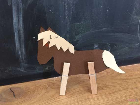 Pferd Aus Pappe Und Wascheklammern Einfach Selber Basteln Basteln
