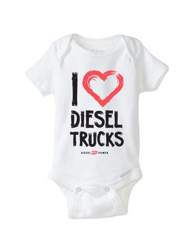 126b3c4a5 I Love Diesel Trucks Onesie | Baby Clothes | Baby, Baby boy outfits ...