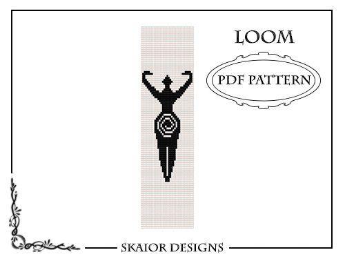 Pagan Goddess Loom Bead Pattern Bracelet Square Stitch