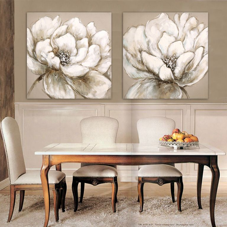 Find more painting calligraphy information about white hibiscus flower oil painting beige canvas wall art modern fashion home decor free ship pinteres