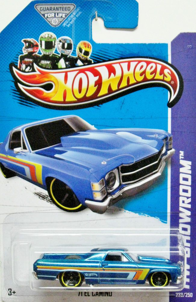 1971 Chevy El Camino Hot Wheels 2013 Showroom 233 250 Blue