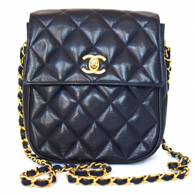 5c82d7c8ce63 Chanel Vintage Quilted Lambskin Flap Bag  fashion  chanel  handbags   Chanelhandbags