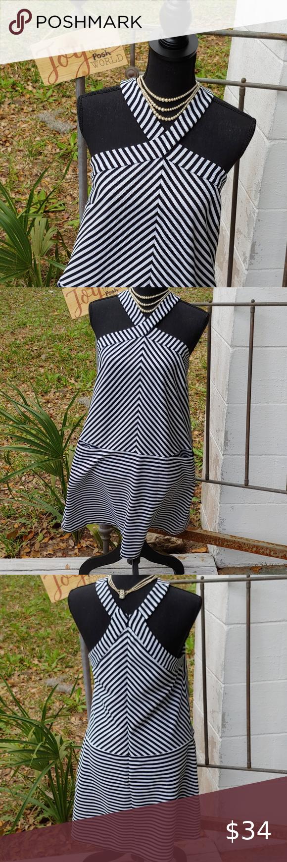 Kaari Blue Black White Striped Dress In 2021 Black White Striped Dress White Striped Dress Striped Dress [ 1740 x 580 Pixel ]
