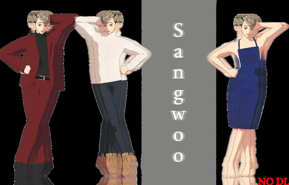 MMD] Sangwoo (Killing Stalking) - model preview by JoanAgnes