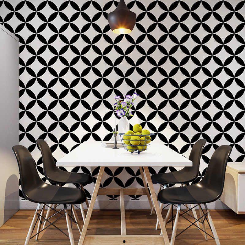 Nordic style wallpaper ins TV background blackandwhite