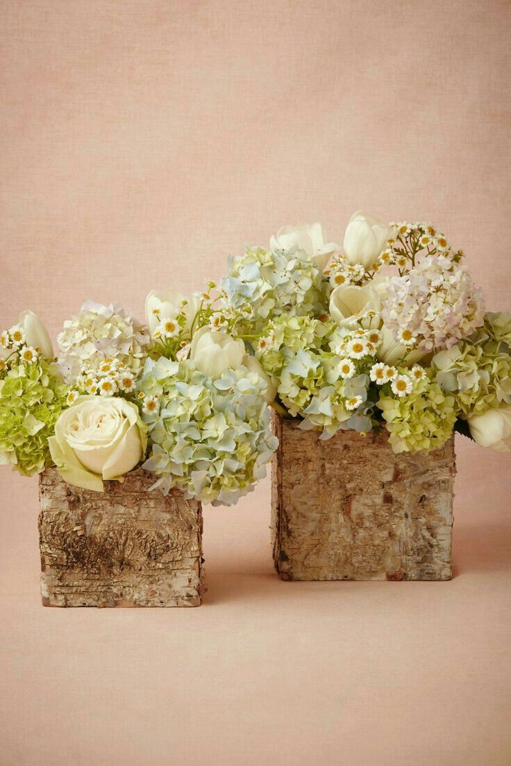 Wedding Garden CenterpiecesBirch BoxRustic