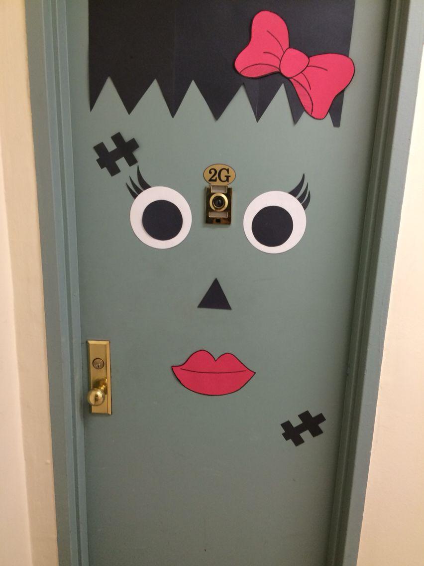 Frankenstein door girl version & Frankenstein door girl version | DIY Halloween Decor | Pinterest ...
