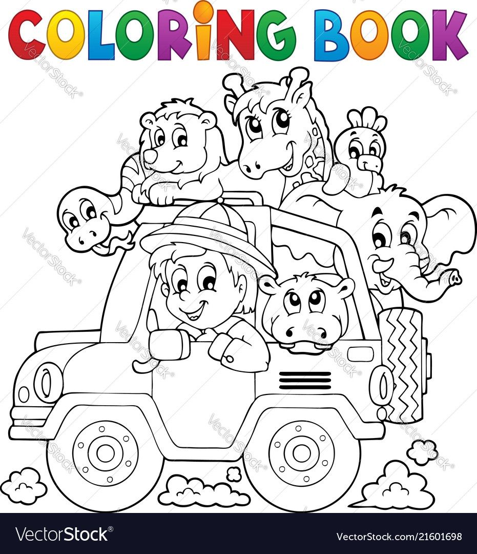 Coloring Book Car Traveller Theme 2 Eps10 Vector Illustration Download A Free Preview Or High Quality Ad Coloring Books Unicorn Coloring Pages Travel Themes