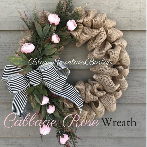 Photo of Valentine wreath, Valentine's day burlap wreath, spring wreath, burlap wreath, front door wreath, Everyd