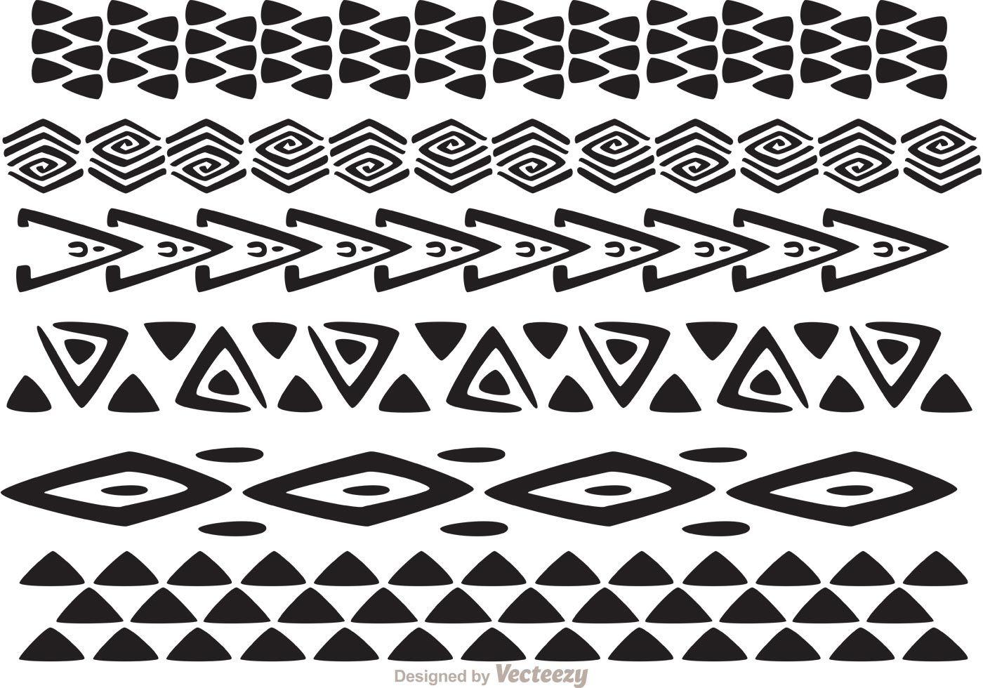 Hawaiian Tribal Pattern Vectors Pack 1 Hawaiian Tattoo Hawaiian Tattoo Traditional Tribal Patterns