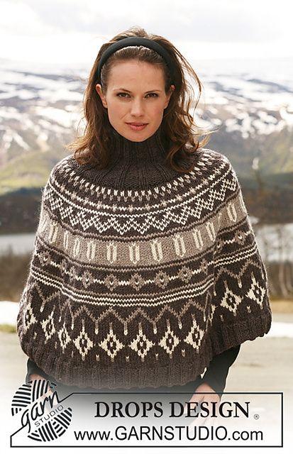 poncho | Knitting 2 | Pinterest | Ponchos, Patrones de puntada y Tejido