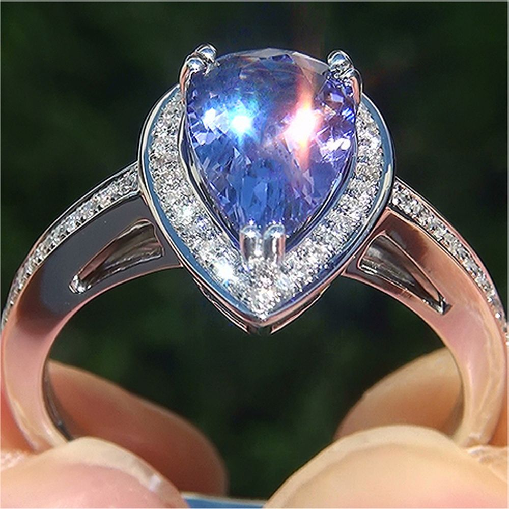 Certified Estate 1.90 ct VS1 Natural Tanzanite Diamond 14k White Gold Ring GEM in Jewelry & Watches, Fine Jewelry, Fine Rings | eBay
