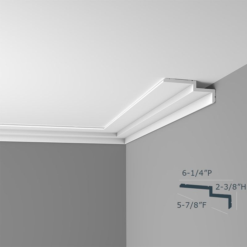 Modern Chicago 2 Step Crown Molding