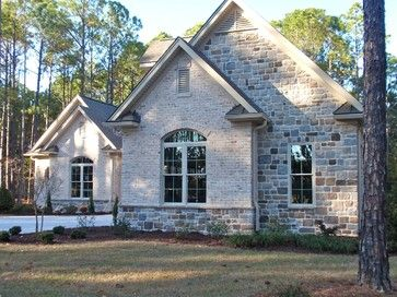 Stone Home Exterior Ideas Brick And Stone Exterior Design Ideas Pictures Remodel A Traditional Home Exteriors Stone Exterior Houses Home Exterior Makeover