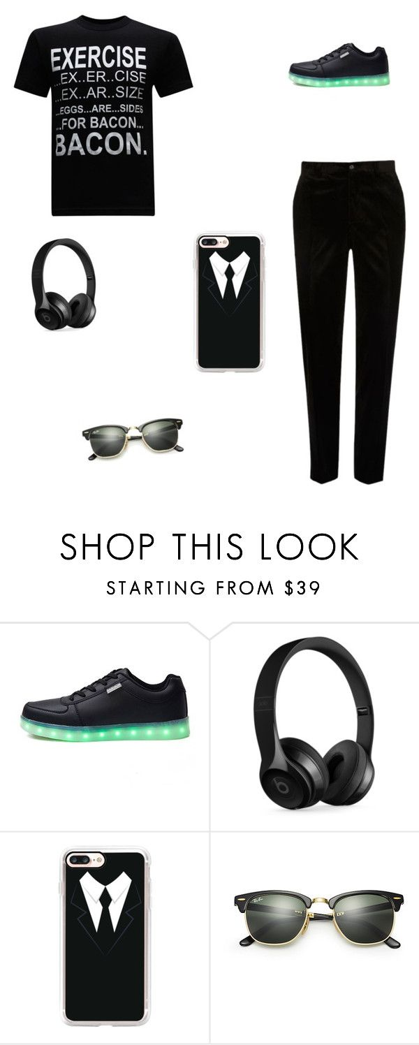 """Untitled #87"" by g-shelby ❤ liked on Polyvore featuring Beats by Dr. Dre, Casetify, Ray-Ban, River Island, men's fashion and menswear"