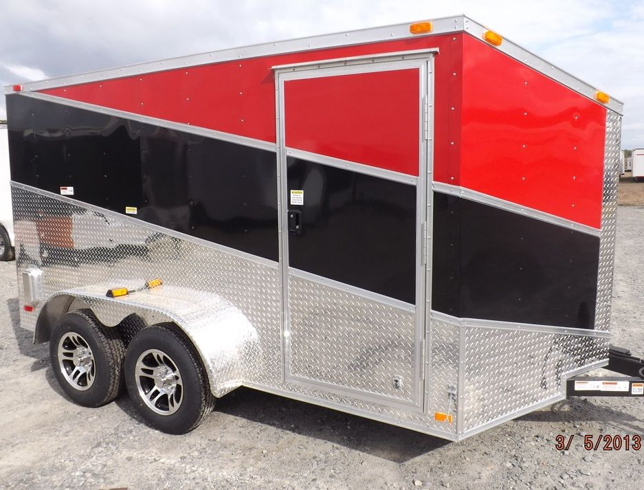 3 tone slant enclosed trailer 2 bike 7 x 12 Best