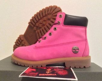 Custom suede dyed timberland boots. Hot pink  b02ddad5f2a4