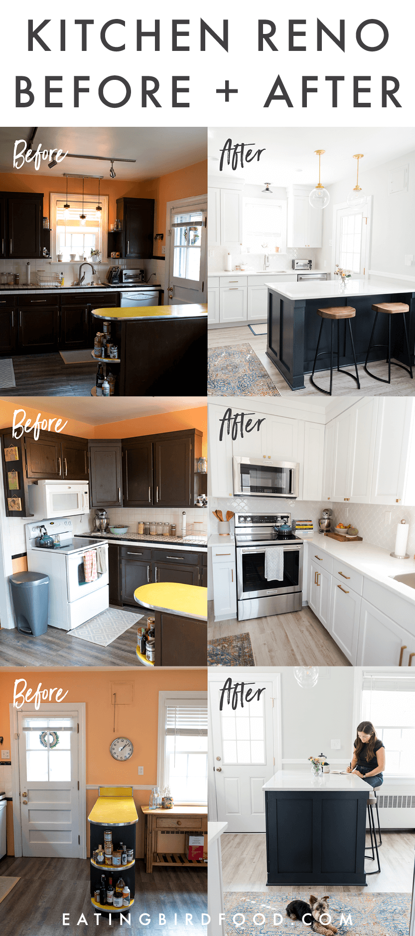 Kitchen Renovation Before And After Eating Bird Food Cheap Kitchen Remodel Kitchen Renovation Simple Kitchen Remodel