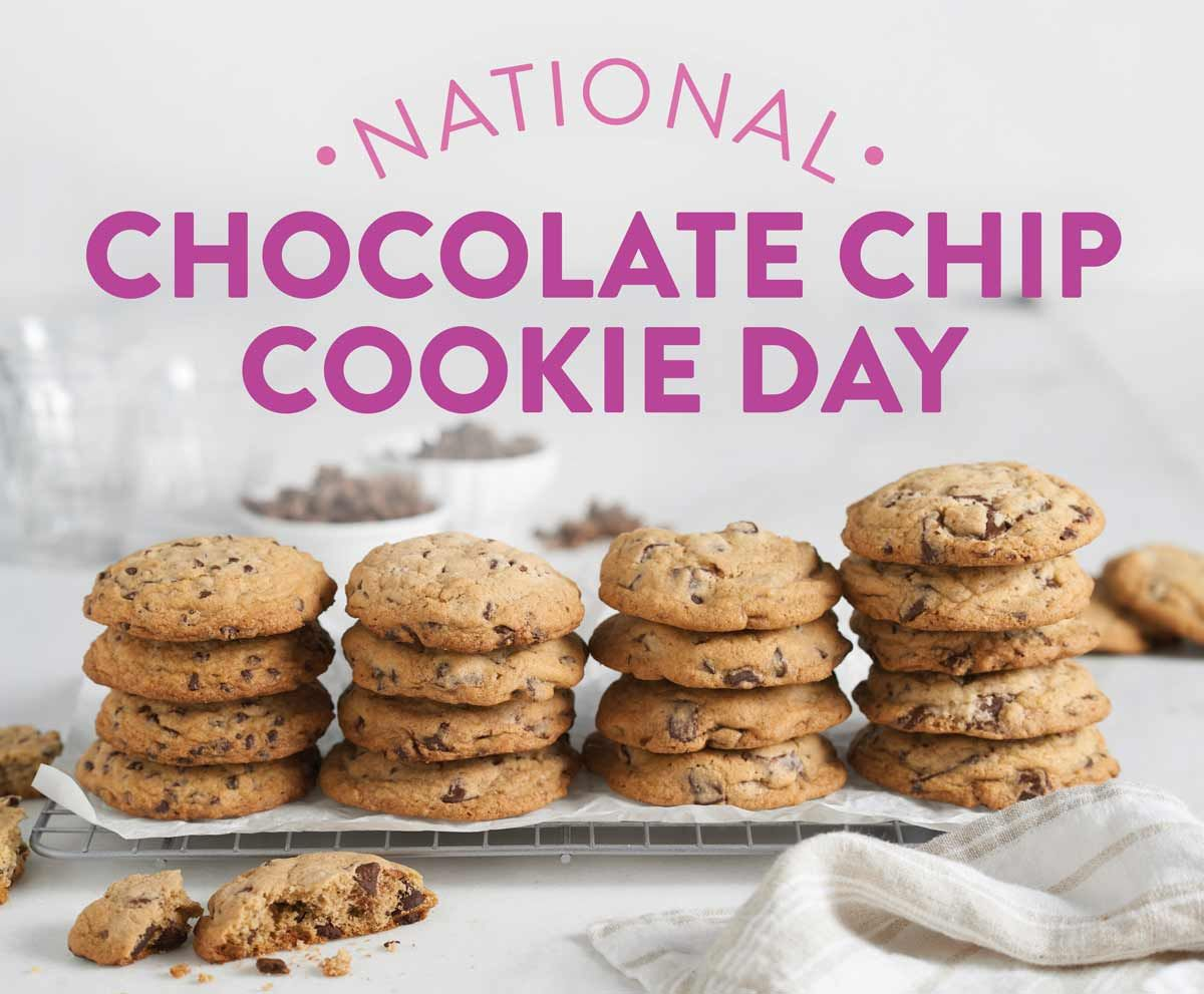 National Chocolate Chip Cookie Day Cookie Recipes Chocolate Chip Cookies Cookie Recipes Cookies