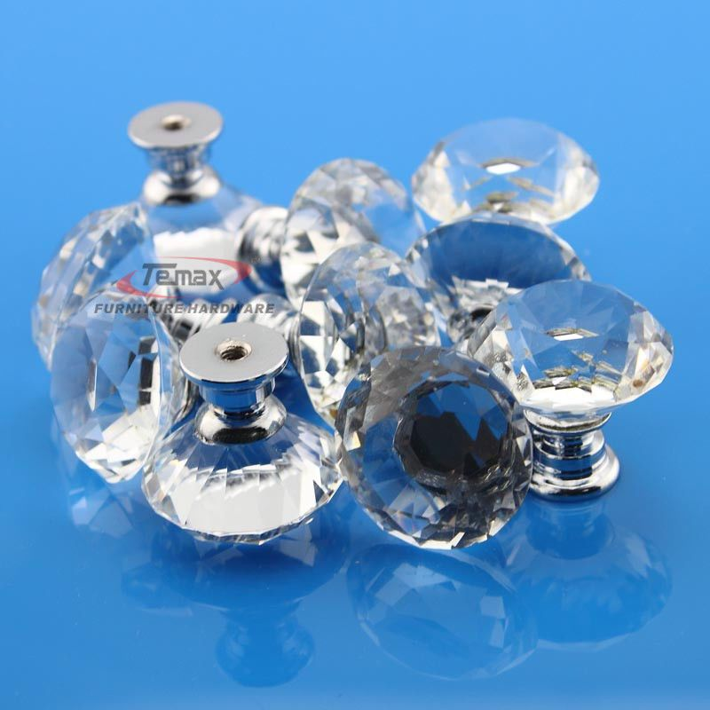10 Clear K9 Crystal Sparkle Cabinet Knob Drawer Knobs Door Cupboard ...