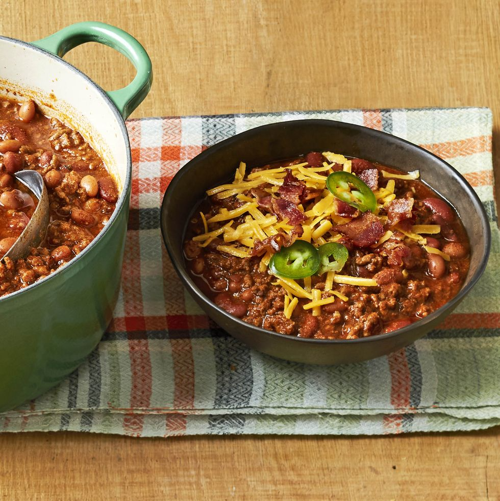 Beef And Bean Chili Recipe In 2020 Beef Bean Chili Recipe No Bean Chili Chili Recipes