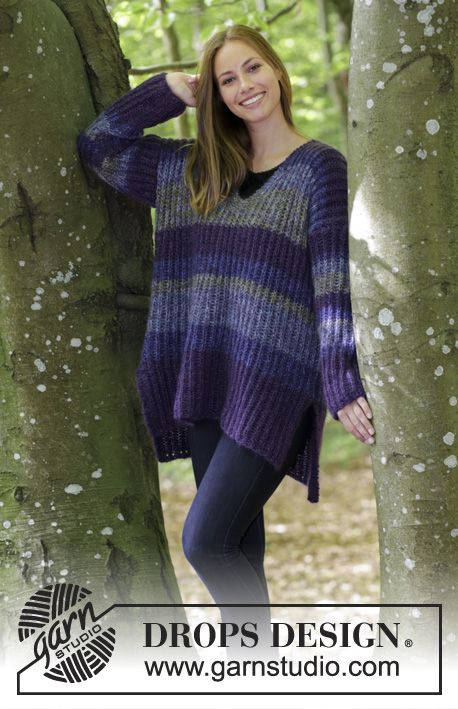Between The Lines Knitted Oversized Jumper With English Rib V