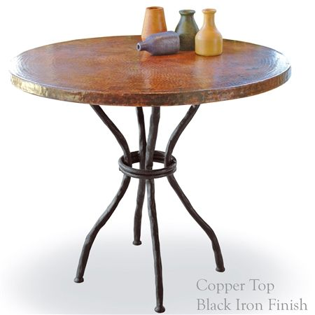 Wrought Iron Woodland Bistro Table With 36in Round Top Bistro