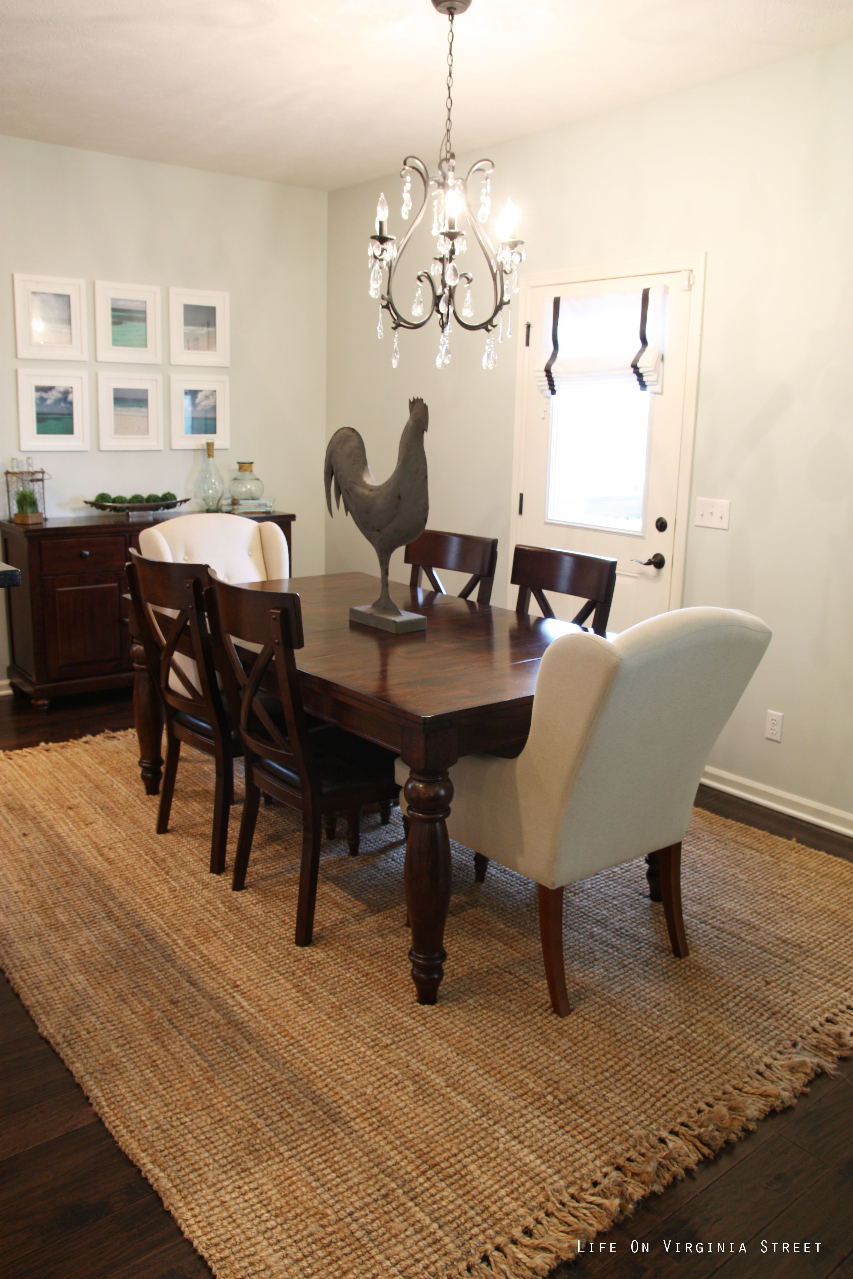 A Jute Rug And Grainsack Upholstery On The Chairs Would Be Gorgeous Jute Rug In Dining Room Inspiration Design