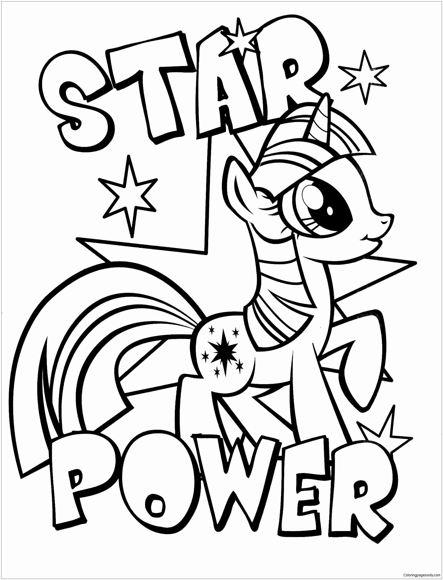 My Little Pony Coloring Pages For Kids Blank In 2020 My Little Pony Coloring Unicorn Coloring Pages My Little Pony Unicorn