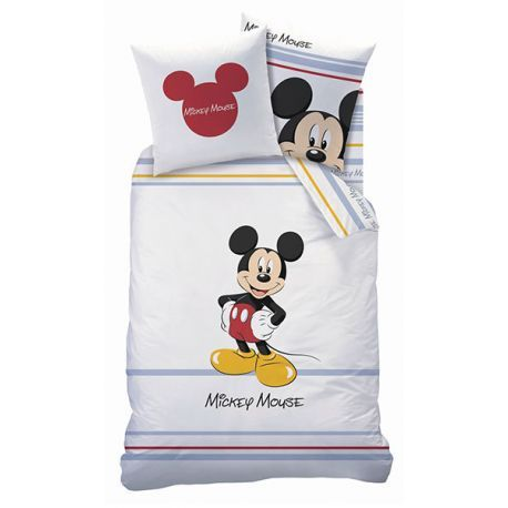 mickey housse de couette pour enfant 100 coton chambre et d co et mickey pinterest lit. Black Bedroom Furniture Sets. Home Design Ideas