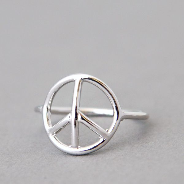 White Gold Peace Ring Peace Jewlery And White Gold