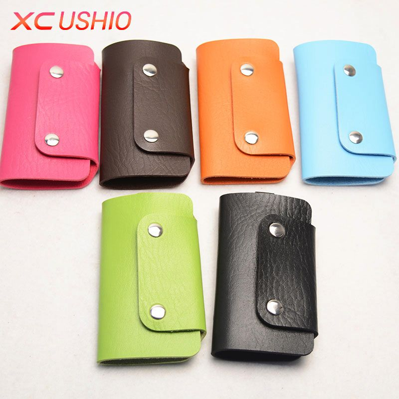 1pc fashion simulated leather car key chain card package