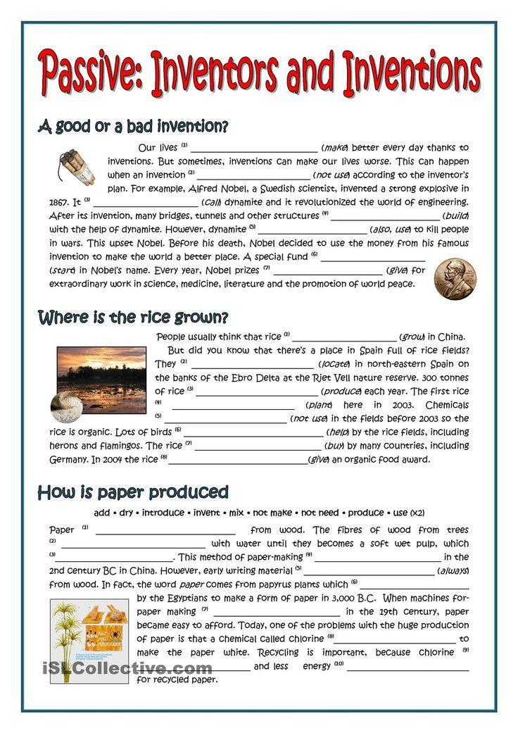 PASSIVE - INVENTORS AND INVENTIONS | Teach Grammar | Pinterest ...