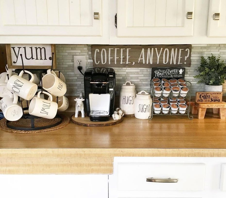 Pin By Margaret Moss On All Things Coffee Coffee Bar Home Coffee Area Home Bar Rooms