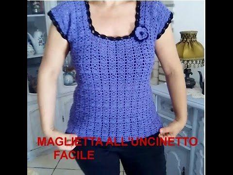 Uncinetto Estate.Canotta Top Estate All Uncinetto Tutorial Facile E Veloce Youtube Crochet Clothes Crochet Top Crochet Summer Tops