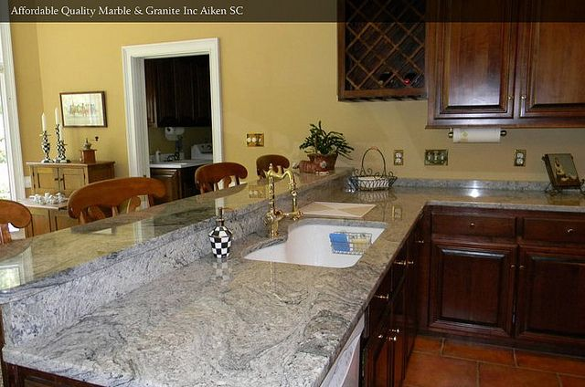 White Wave Granite Installed In A Kitchen Kitchen Concepts