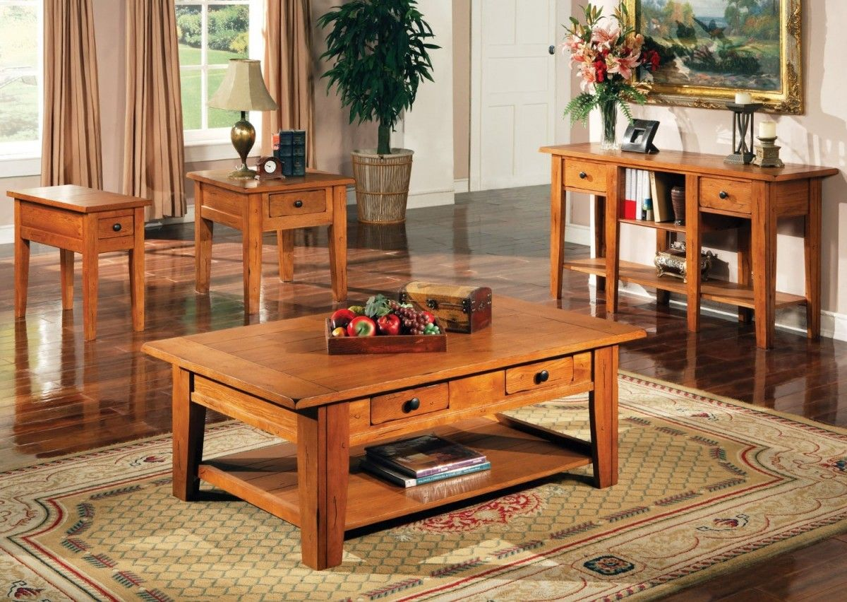 Rustic Coffee And End Table Sets  Coffee Cocktail & End Tables Best Living Room Table Sets Design Ideas