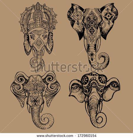 Indian pattern photos d 39 archives photographie d 39 archives indian pattern indian pattern images - Elephant indien dessin ...