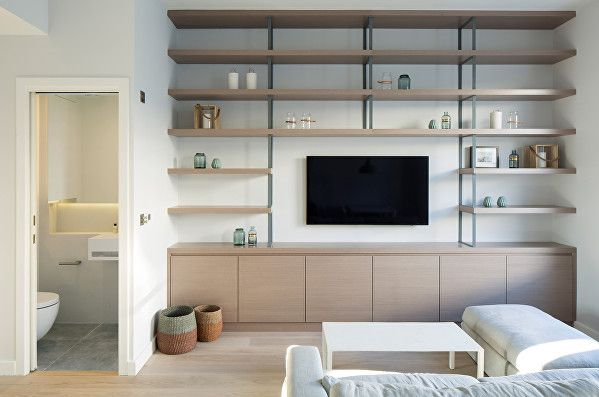 Harcourt Road by Ardesia Design. Bespoke TV joinery and cloakroom ...