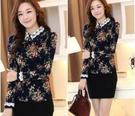 floral print pullover