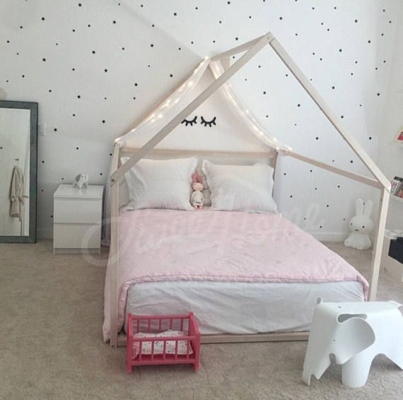 Montessori Toddler Beds Frame Bed House Bed House Wood House Kids Teepee Baby Bed Nursery Bed Platform Bed Children Furniture Full Double House Frame Bed Toddler Bed Frame Bed Tent