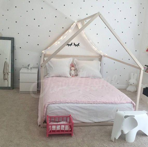 lit en bois plein double lit b b lit tente cadre de lit. Black Bedroom Furniture Sets. Home Design Ideas