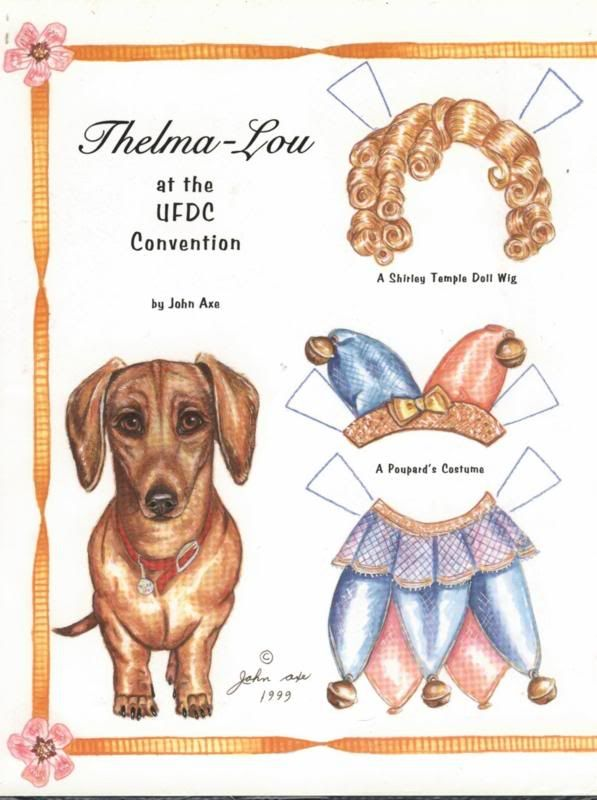 Gilded Paper Art Dog
