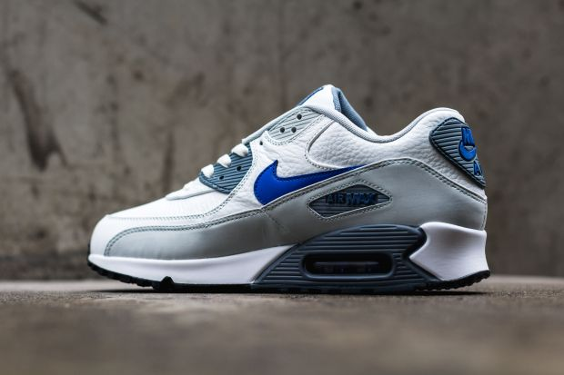 Nike Sportswear Men's Shoes AIR MAX 90 - Trainers - summit white/lyon blue/grey mist