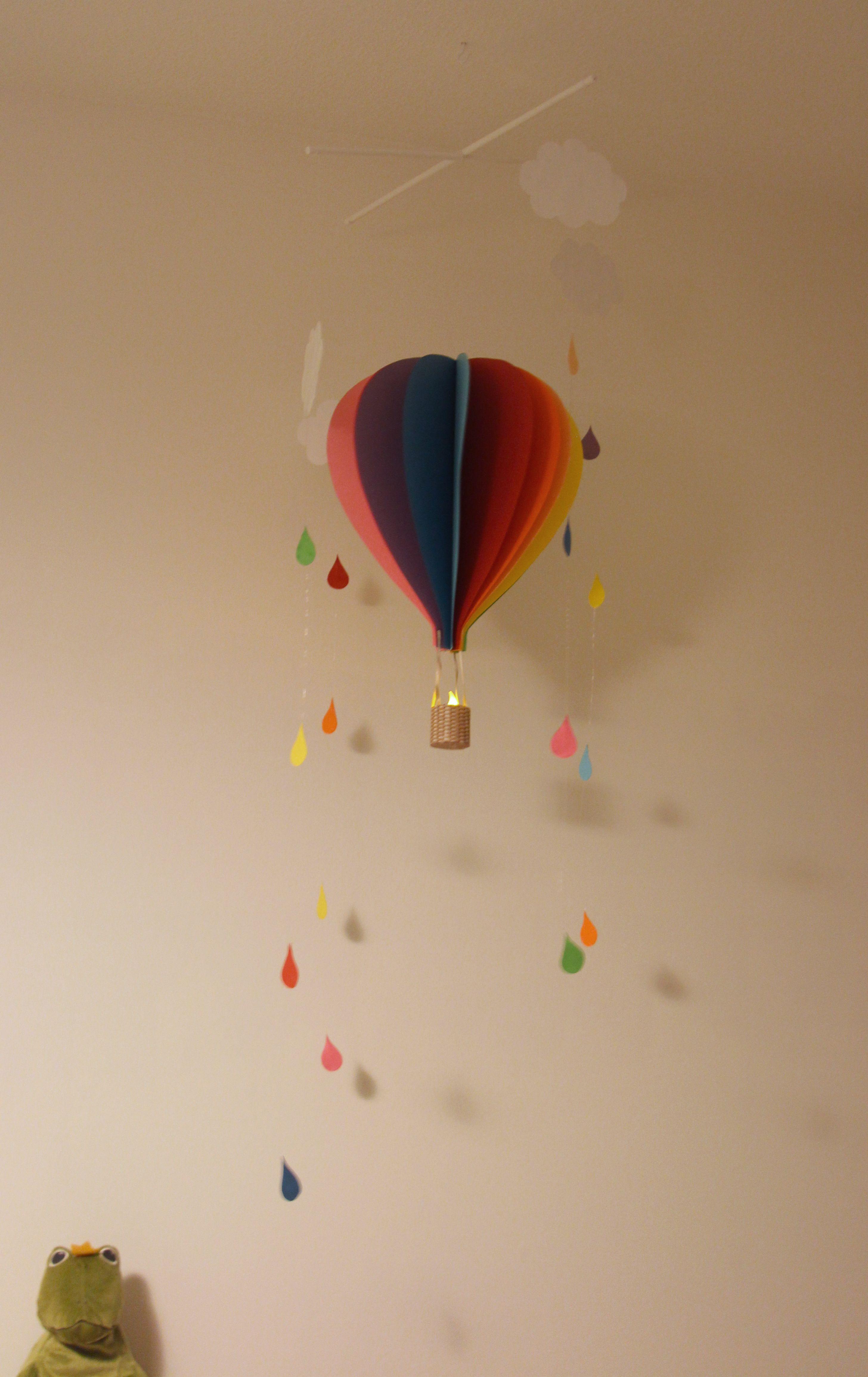 Mobile Montgolfière papier Home made. hotair balloon