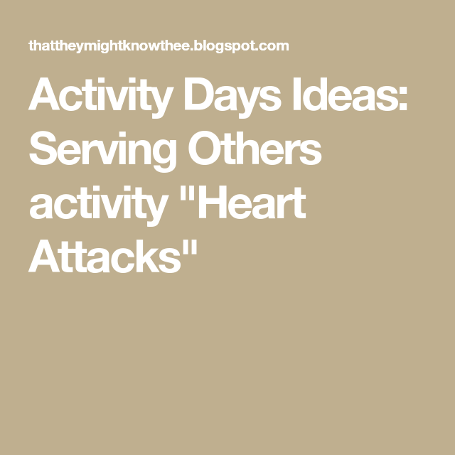 Activity Days Ideas: Serving Others activity