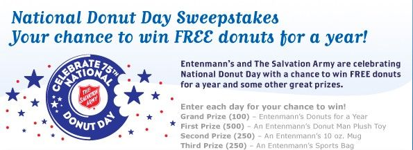 Entenmann S Free Donuts For A Year Sweepstakes With Images