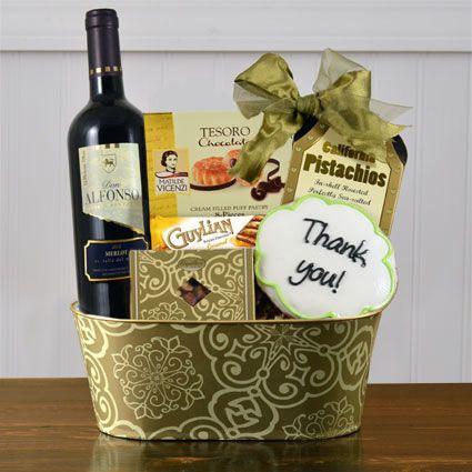 Much Appreciated Red Wine Gift Basket-winebasket.com