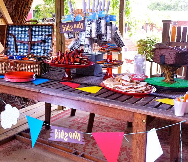 tree house party ideas love the kids only sign rocco pinterest